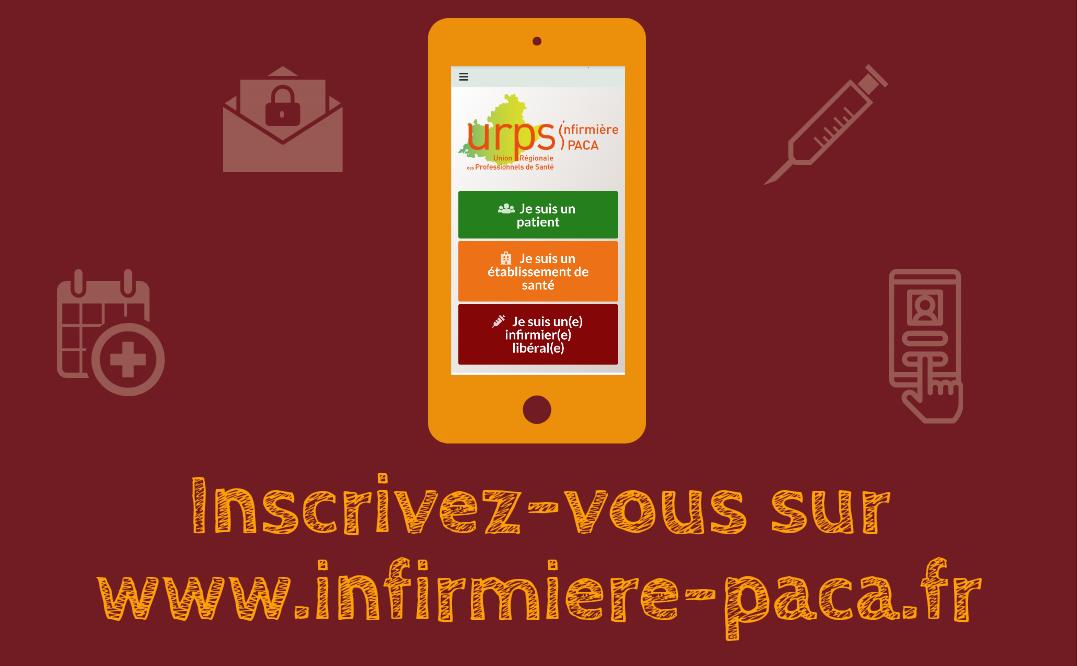 Inscrivez-vous sur infirmiere-paca.fr